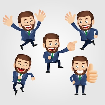 Men with different poses vector