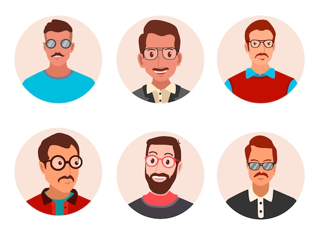 Men with glasses avatar