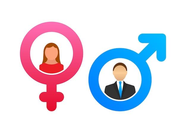 Men and women symbol. gender icon. vector stock illustration.