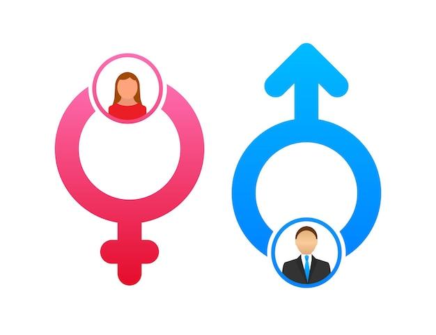 Men and women symbol. gender icon. vector stock illustration
