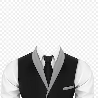 Mens business suit on transparent