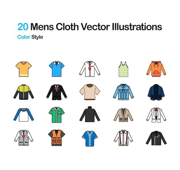 Mens cloth color illustration