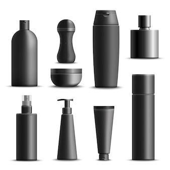 Mens cosmetics realistic set