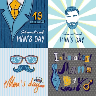 Mens day concept background