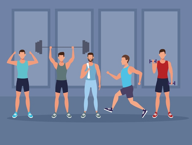 Mens fitness doing exercise