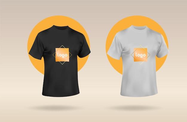 メンズショートラウンドネックtシャツあなたのロゴを含めるためのバイオレットとピンクのtシャツのフロントモックアップ