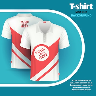 Mens t-shirt vector mockup advertising concept