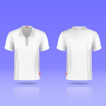 Mens white t-shirt realistic template