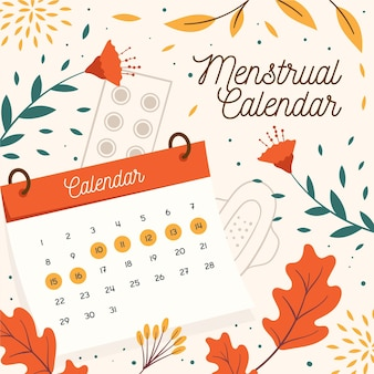 Menstrual calendar concept