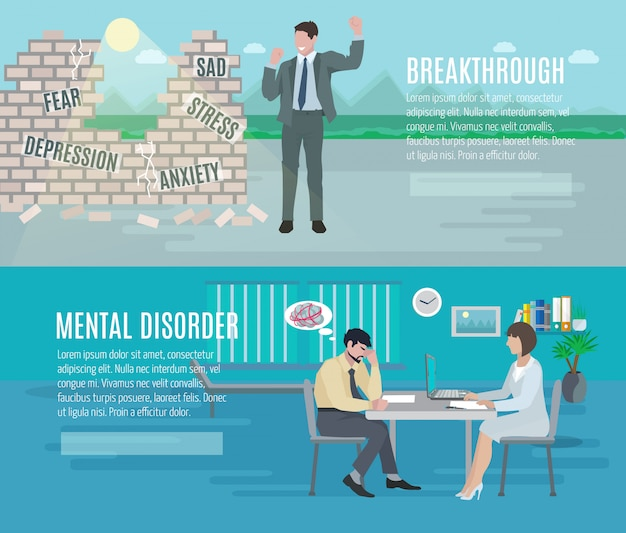 Mental health anxiety disorder breakthrough with psychiatrist counseling
