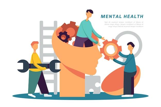 Mental health awareness concept