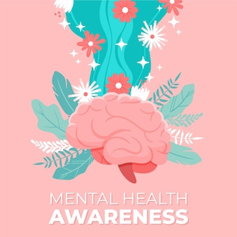 Mental health awareness concept