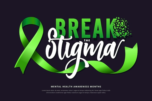Mental health awareness lettering background