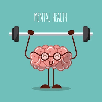 Mental health brain lifting weights