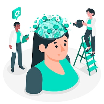 メンタルヘルスの概念図