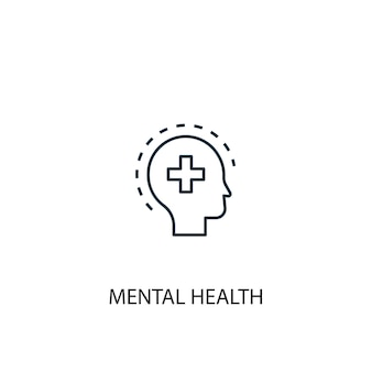 Mental health concept line icon. simple element illustration. mental health concept outline symbol design. can be used for web and mobile ui/ux