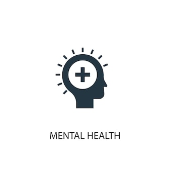 Mental health icon. simple element illustration. mental health concept symbol design. can be used for web and mobile.