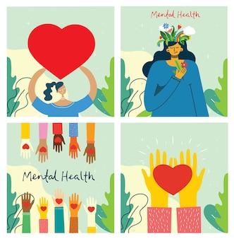 Концепция иллюстрации психического здоровья.