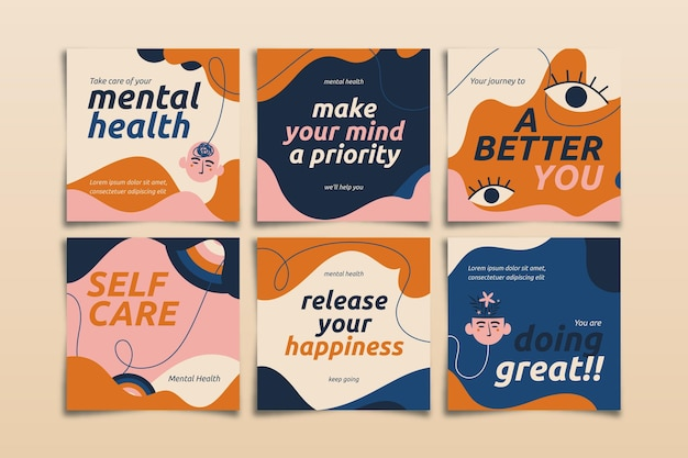 Коллекция сообщений instagram о психическом здоровье