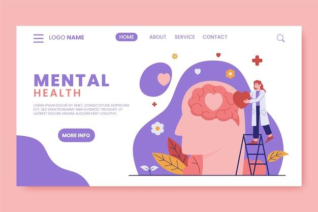 Mental health landing page
