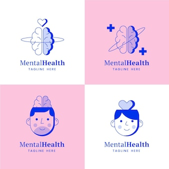 Mental health logo collection