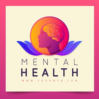 Mental health logo template