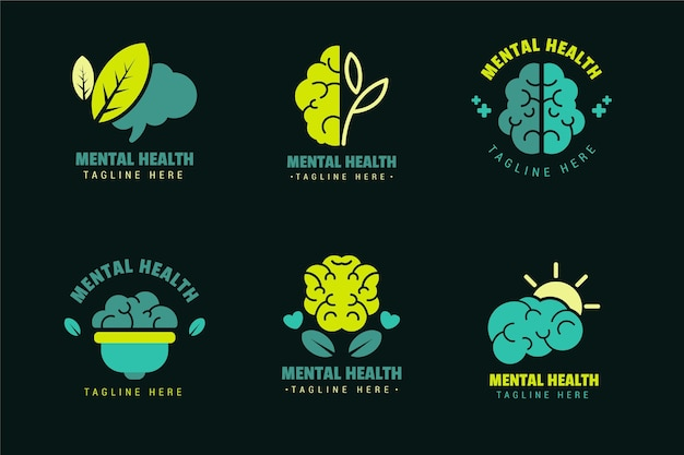 Mental health logo templates