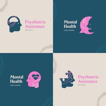 Коллекция логотипов психического здоровья
