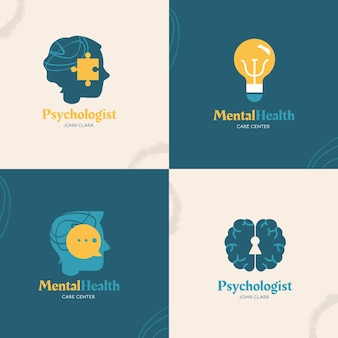 Collezione di loghi per la salute mentale