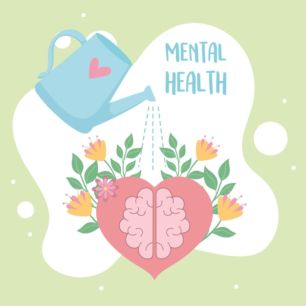 Mental health love and care concept