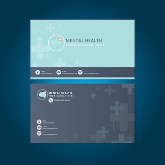 Mental health psychiatrist name card mockup vector