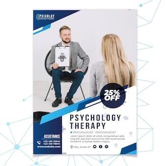 Mental health psychology consult flyer template