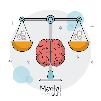 Mental health scale weight gears