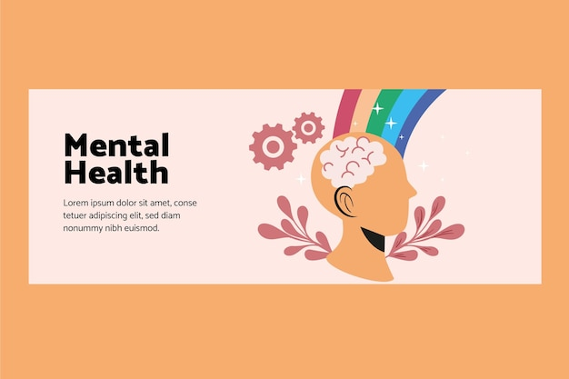 Mental health social media cover template
