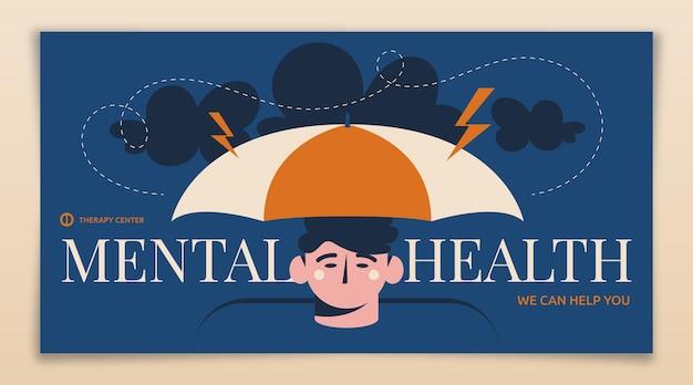 Mental health social media post template