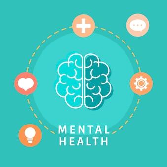 Психическое здоровье, понимание вектора мозга