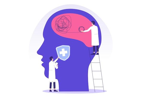 Психическое здоровье с психотерапевтами или врачами-специалистами, работающими вместе
