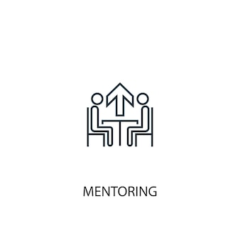 Mentoring concept line icon. simple element illustration. mentoring concept outline symbol design. can be used for web and mobile ui/ux