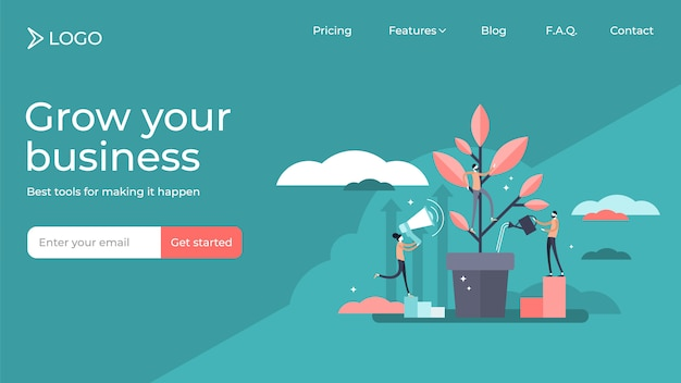 Mentoring flat tiny persons vector illustration landing page template design.
