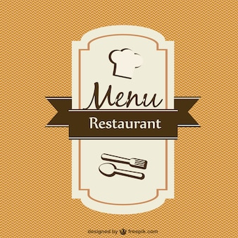 Menu card template vector