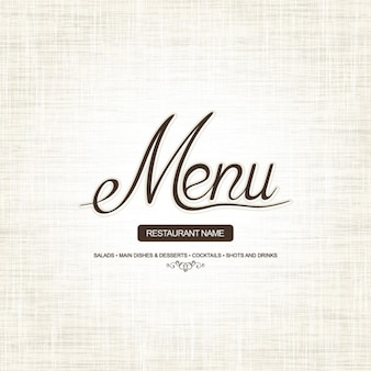 Menu cover. simple design and style.