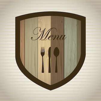 Menu design over lineal background vector illustration