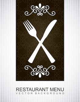 Menu over gray background