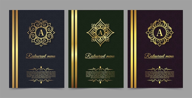 Menu restaurant luxury gift voucher  template
