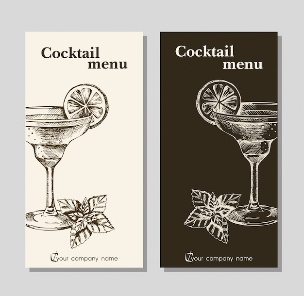 Menu template for restaurant cafe and bar