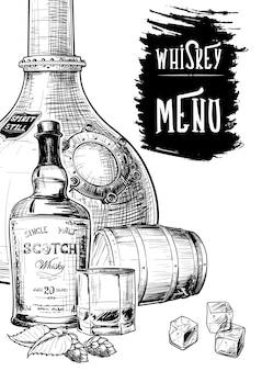 Меню для виски, связанных с бизнесом