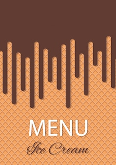 Menu waffle background.