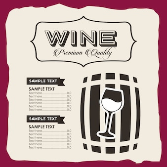 Menu wine template