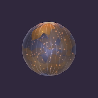 Mercury planet in deep space icon