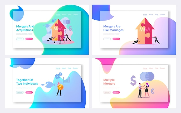 Merger and acquisition landing page template set